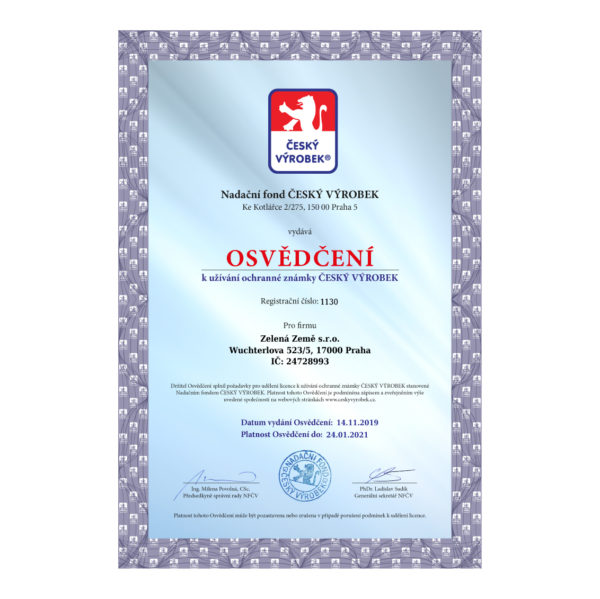 A4 papír - certifikát